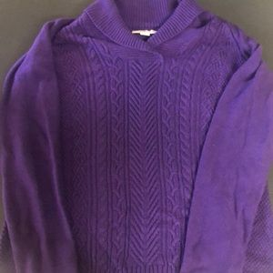 Purple Coldwater Creek Sweater